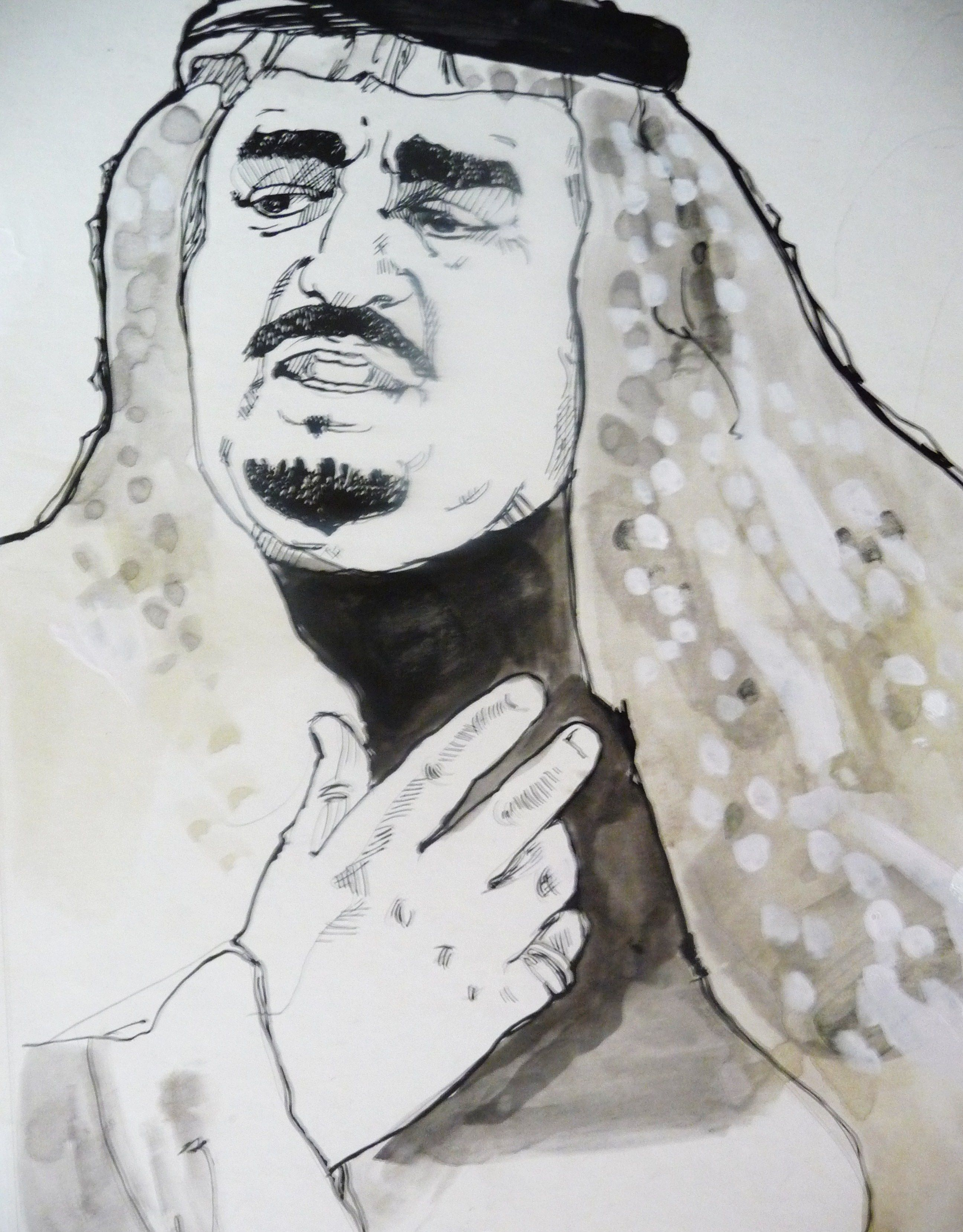 Arab Prince. Ink and guache on hotpress illustration board. Copyright 2012 by S. K. Cole, all rights reserved.