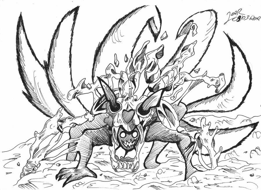 Naruto Nine Tails By Firefenixss On Deviantart Naruto Drawings Naruto Nine Tails Naruto Art