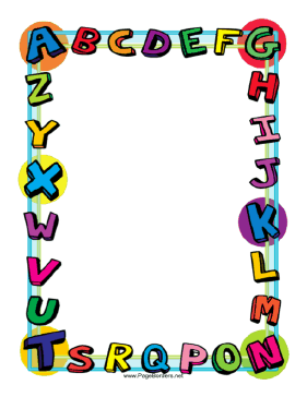 colorful page border. This colorful alphabet border is great for kids and school projects  Free to download