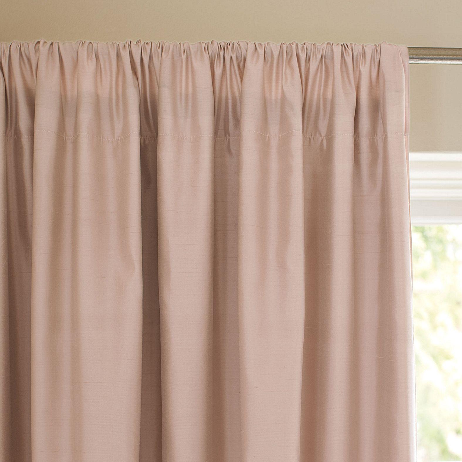 Blush Silk Shantung Window Panel Serena Lily Blush Curtains