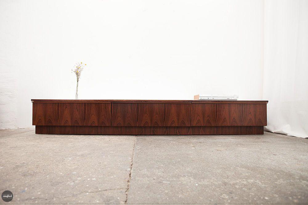 details zu danish modern rosewood sideboard credenza mid century palisander cabinet 1960s. Black Bedroom Furniture Sets. Home Design Ideas
