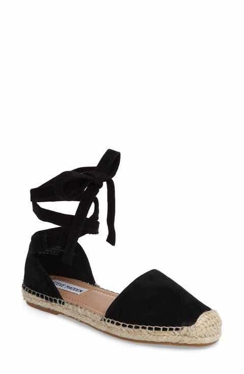 da4de962d81 Steve Madden Rosette Ankle Wrap Espadrille Flat (Women)   4 ...