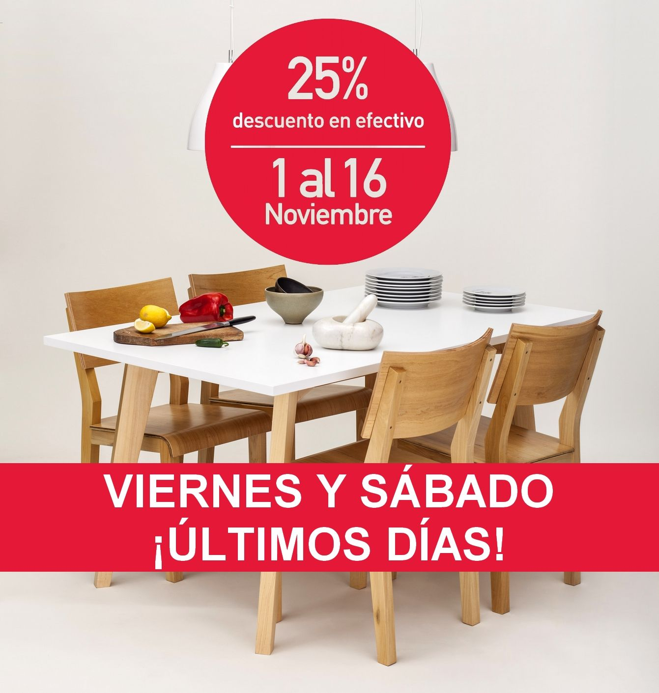 ¡Últimos 2 días para aprovechar el 25% OFF en muebles para tu casa! Te esperamos hoy viernes y mañana sábado en nuestros locales: Thames 1373 y Arenales 1257, Bs As www.unimate.com.ar
