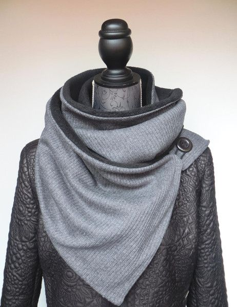 Cowl Neck Scarf Sewing Pattern