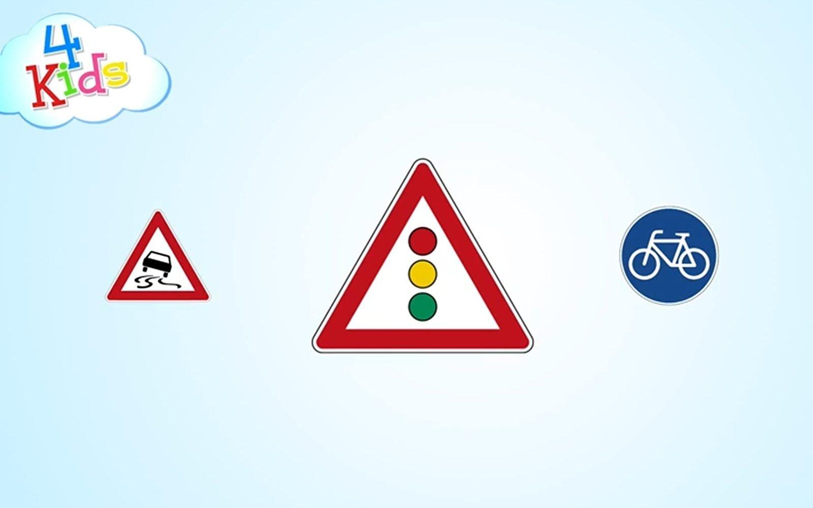 Verkehrszeichen Und Schilder Im Strassenverkehr Lernen Fur Kinder