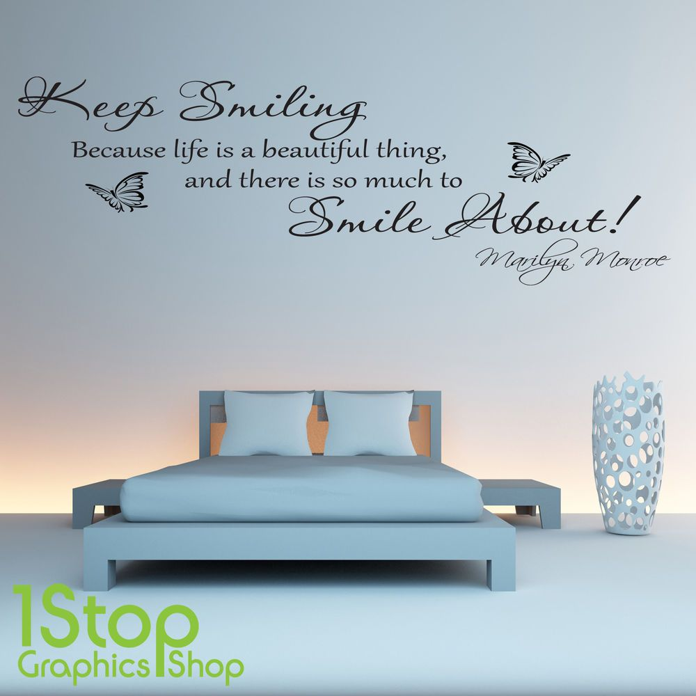 Best Details About Marilyn Monroe Keep Smiling Wall Sticker 640 x 480