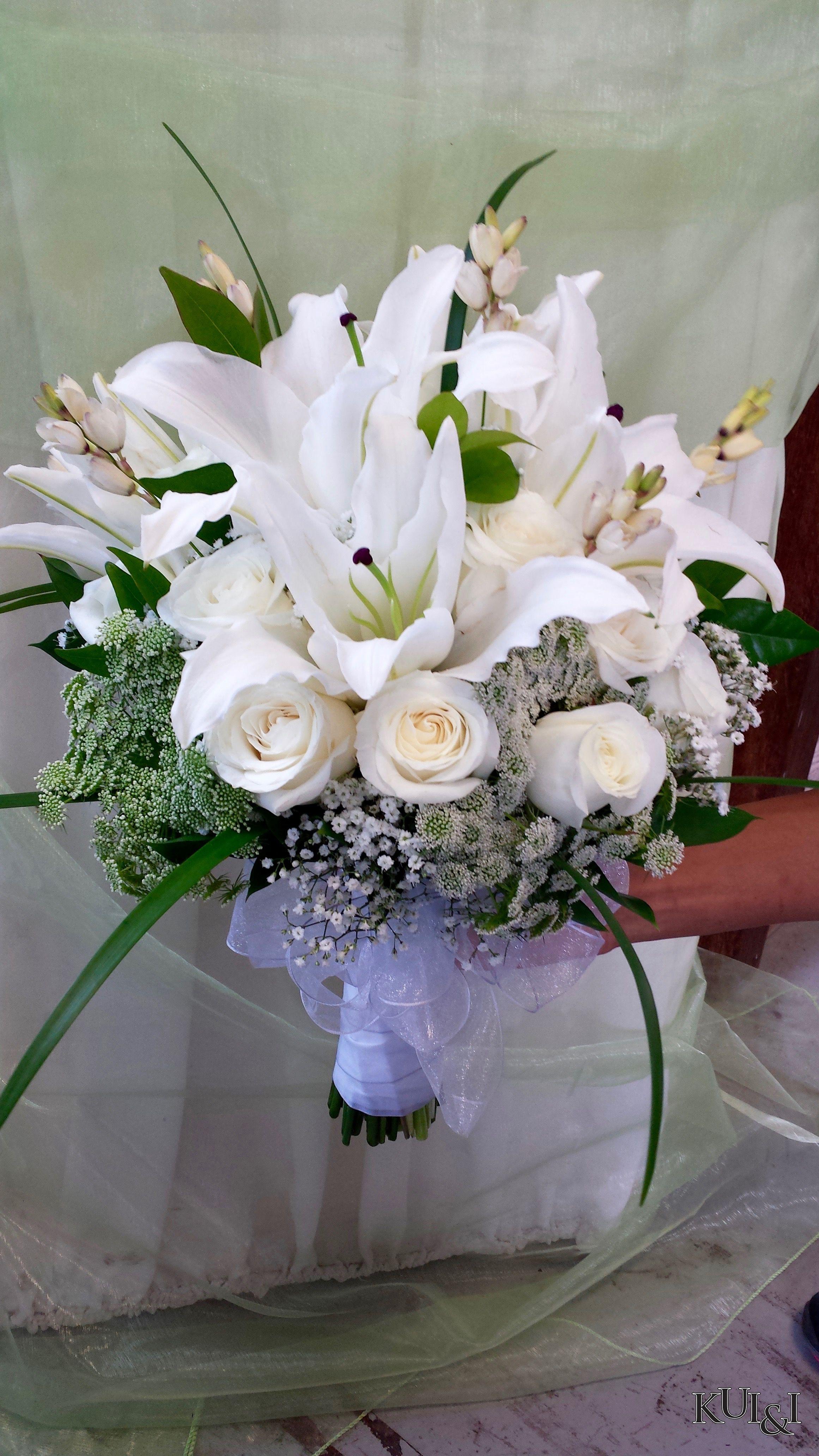 Traditional White Wedding Bouquet Kui I Florist Llc Hilo Hawaii