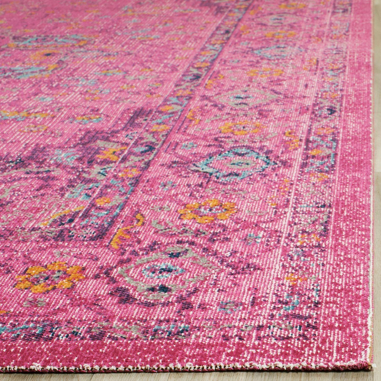 "Boho Fuchsia 6'7""x9' Rug Rugs, Area rugs, Floral rug"