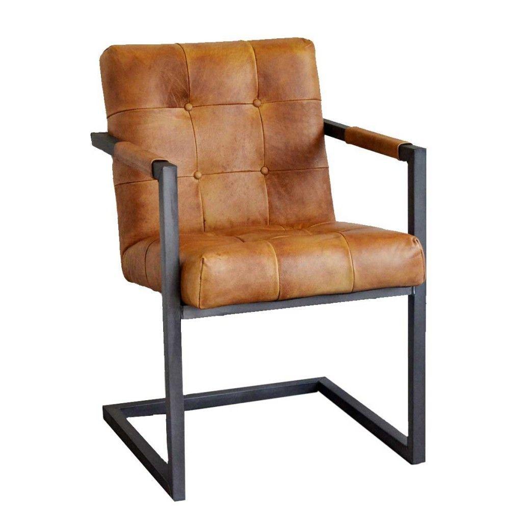 Freischwinger Goodman Aus Echtem Buffelleder Livior Leder Esszimmer Stuhle Esszimmerstuhle Lederstuhle