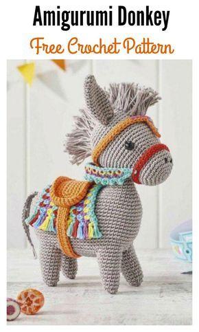 Little Amigurumi Donkey Free Crochet Pattern   Pinterest   Burritos ...