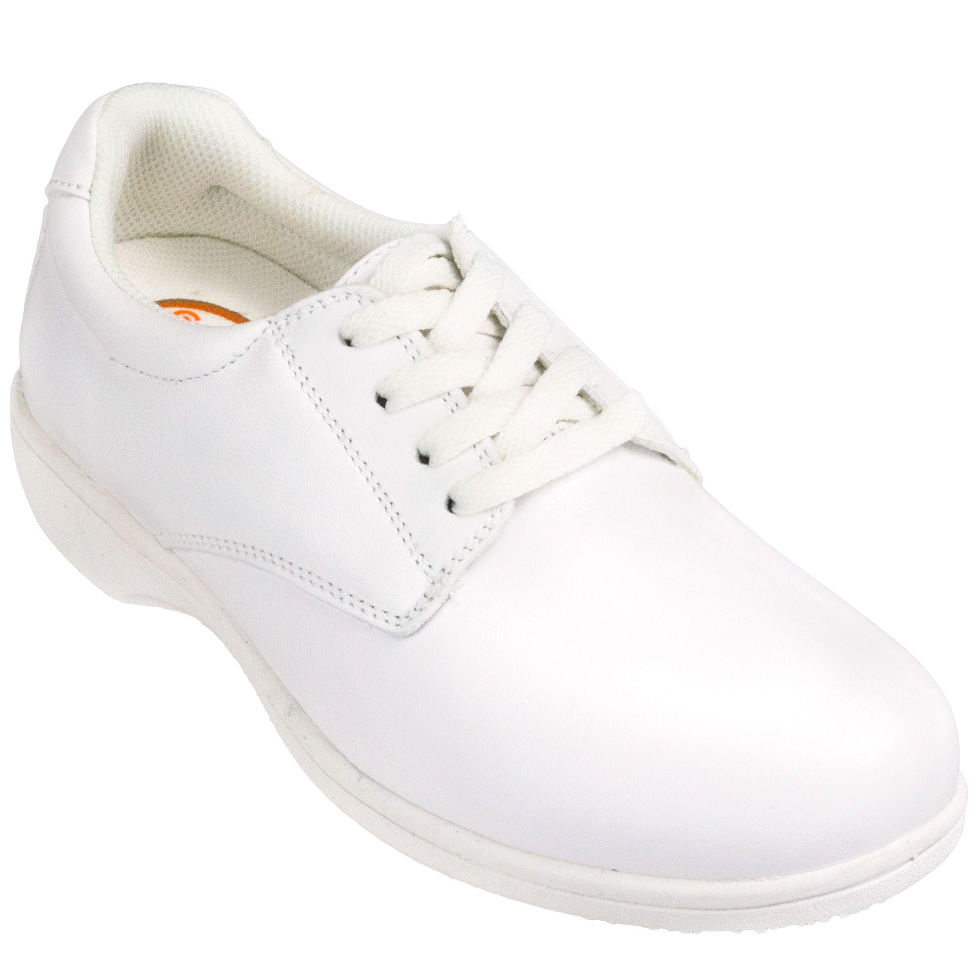 3eb41fdf6989 Genuine Grip Women s 425 White Tie Slip-Resistant Water-Resistant Shoes