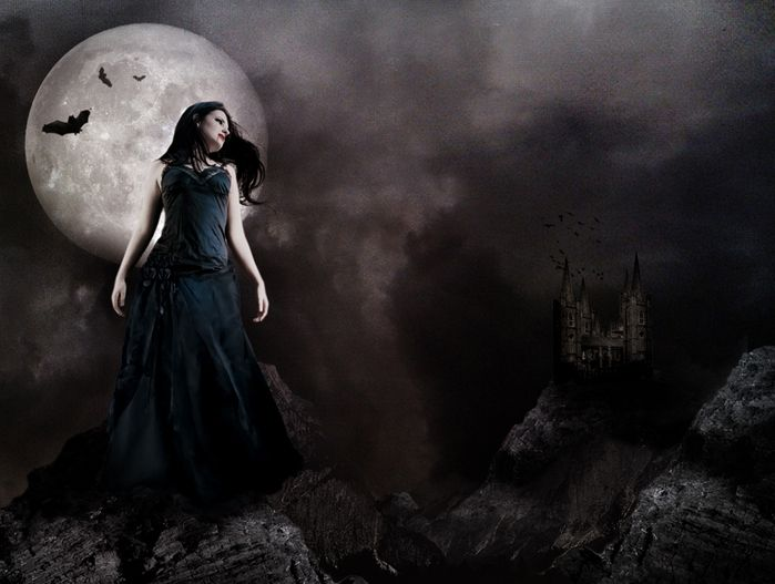 Картинки луна готика