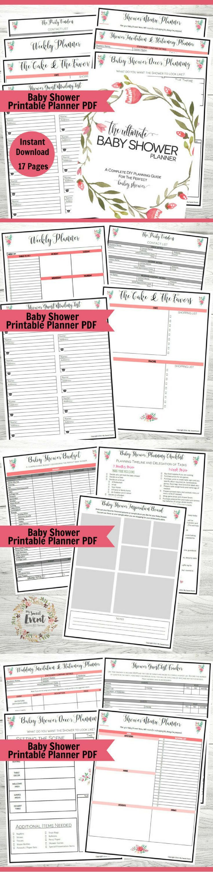 This  Page Baby Shower Planner Has Everything You Will Need To