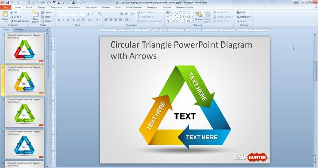 Free circular triangle powerpoint diagram with arrows abstract free circular triangle powerpoint diagram with arrows ccuart Gallery