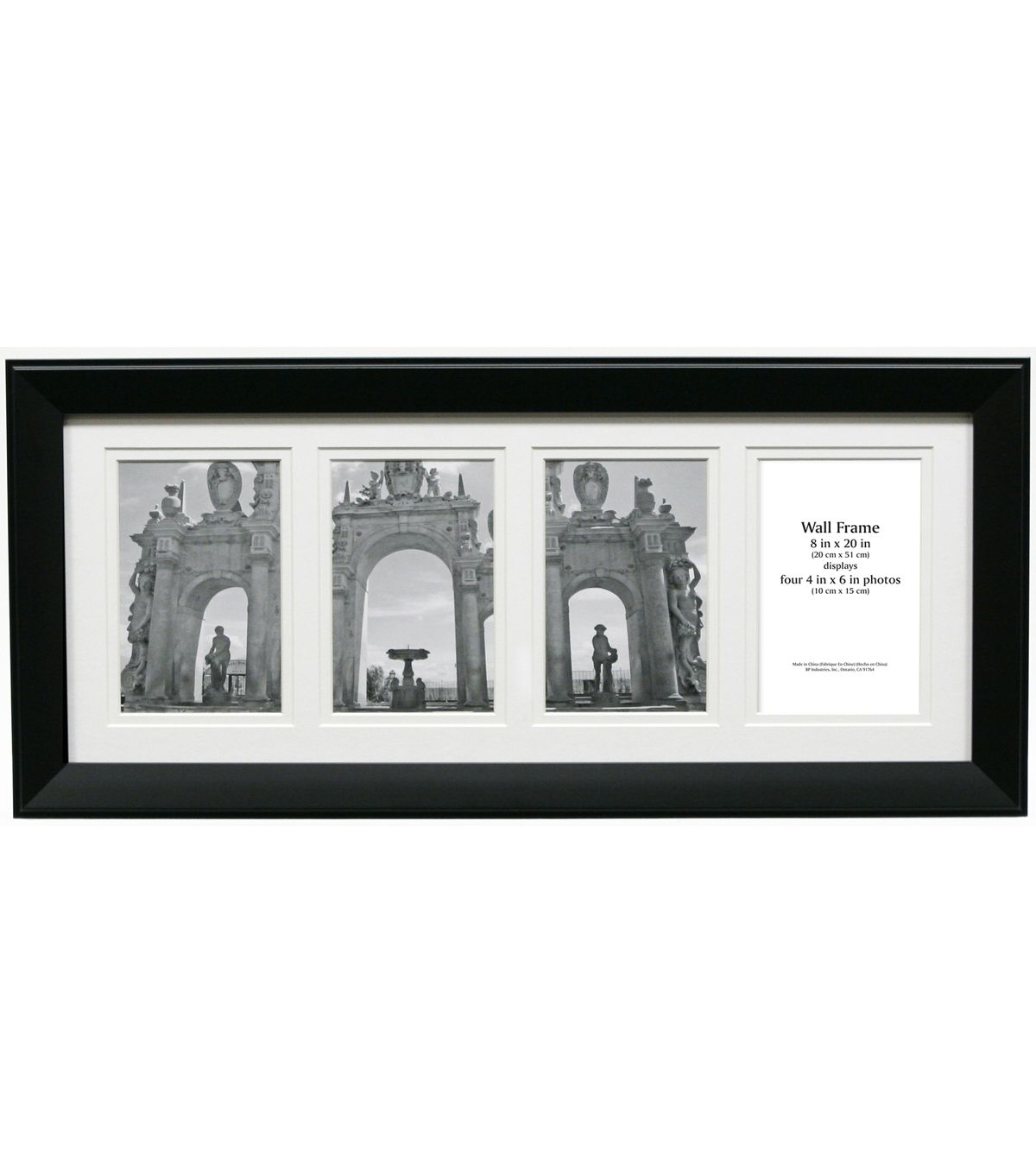 Multi Opening Collage Frame With 4 Openings 8 X20 Black Frames On Wall Collage Frames Frame