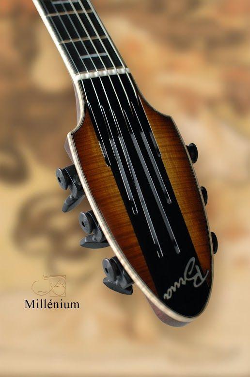 Beautiful headstock - Millénium - Brua Guitars - France http://www.bruaguitars.com/