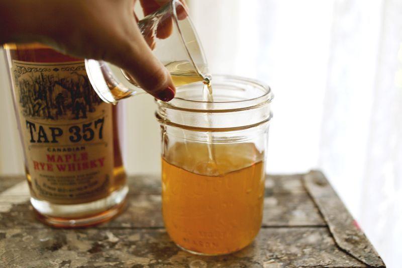 Spiked Apple Cider Float #spikedapplecider Spiked Apple Cider Float, serves one   2 cups apple cider Ground Cinnamon Ground Allspice Maple Rye Whiskey Vanilla Ice Cream #spikedapplecider