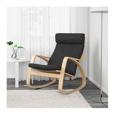 POÄNG Rocking chair birch veneer, Hillared anthracite