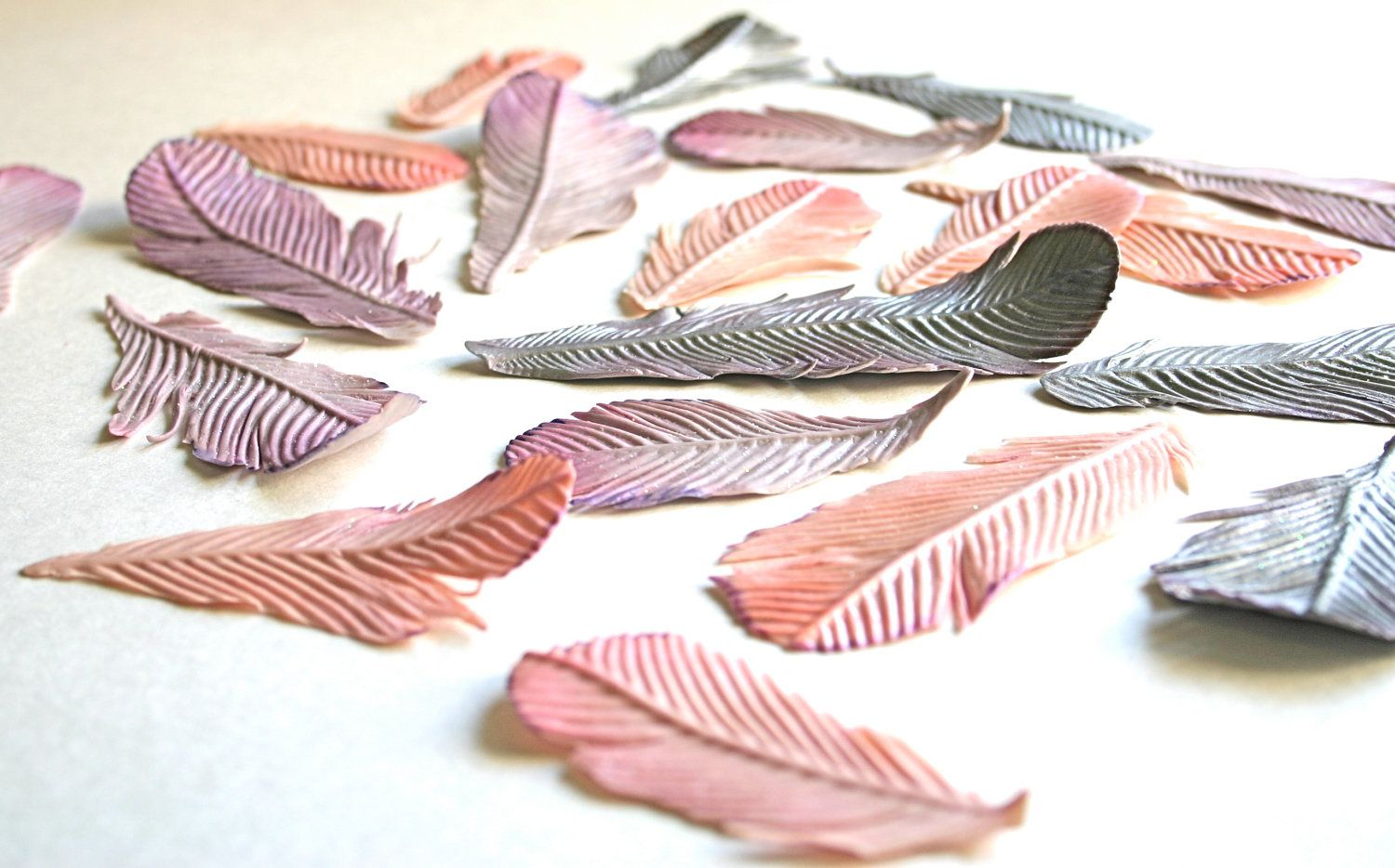 Edible Feathers (custom color per 1 dozen) bohemia, desert, tribal, nature enthusiast, 1920's rhapsody. $59.00, via Etsy.