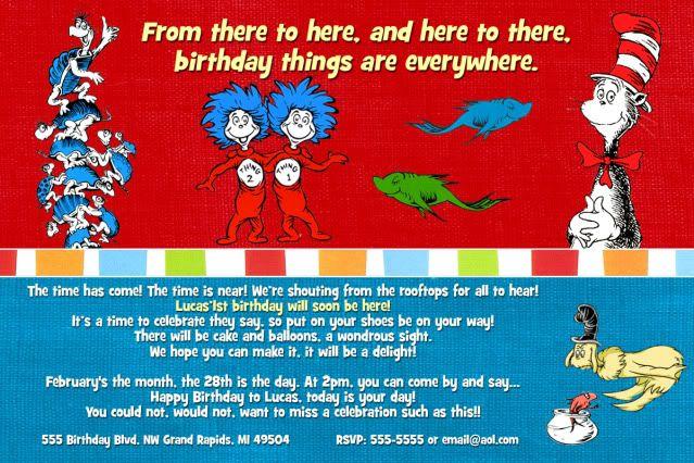 Invite Kids Party Ideas Pinterest Dr Seuss Birthday - Dr seuss birthday invitations templates