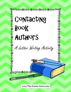 This is a fun book author activity that reinforces the proper letter book author letter writing activity freebie spiritdancerdesigns Gallery
