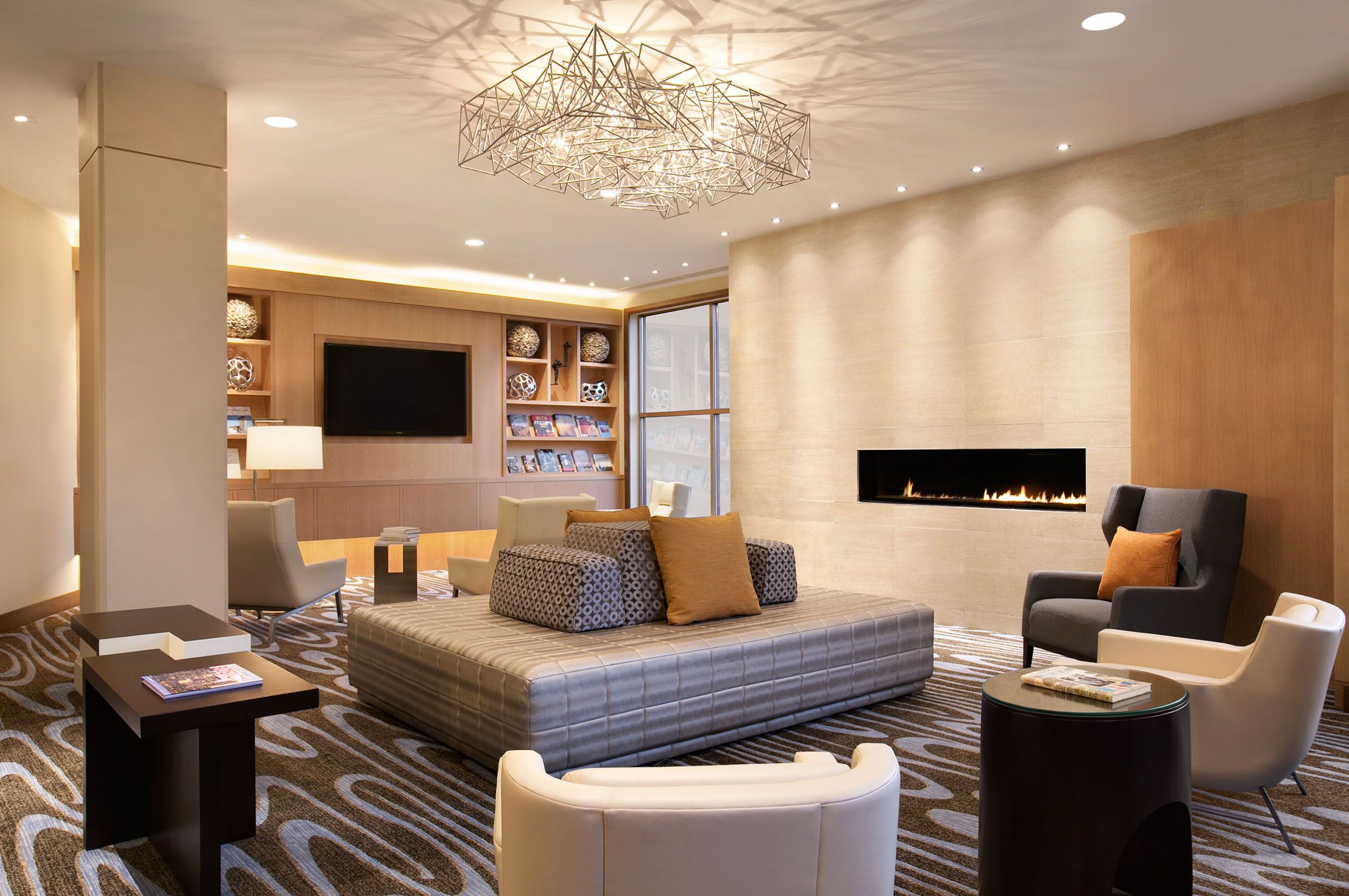 fireplace in lobby - Google Search   LS Condos.   Pinterest ...