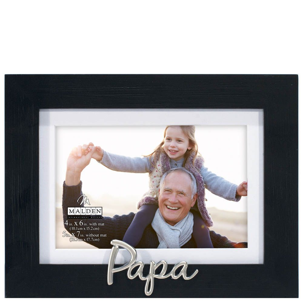 Papa Expressions Picture Frame 4x6 Wood Photo Frame Photo Frame Frame