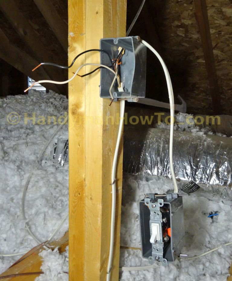 How To Wire An Attic Electrical Outlet And Light Junction Box Wiring Electrical Outlets Junction Boxes Attic Lighting