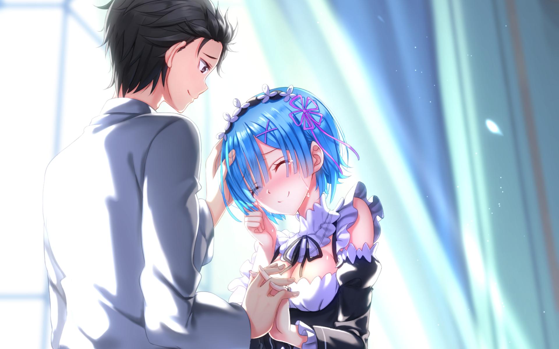 Anime Re Zero Starting Life In Another World Rem Re Zero Subaru Natsuki Re Zero Wallpaper Anime Subaru Rem