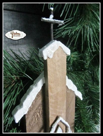 A few bloggers and I joined in on a Christmas blog hop organized by CountryLiving.com, and Hometalk.com. Inspired by my love of small country churches, I set out to create a rustic ornament with salvaged pallet wood... #homeforchristmas, #christmasornament, #palletwoodproject, #repuposed All you basically need are 3 simple items, pallet wood, clothespins, thin twigs ... and most of the rest you should have in your home already. I have posted a template with measurements on the…