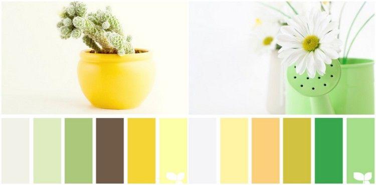 Farbpallette Für Küche Grün Und Gelbtöne Frben Küche Farbe