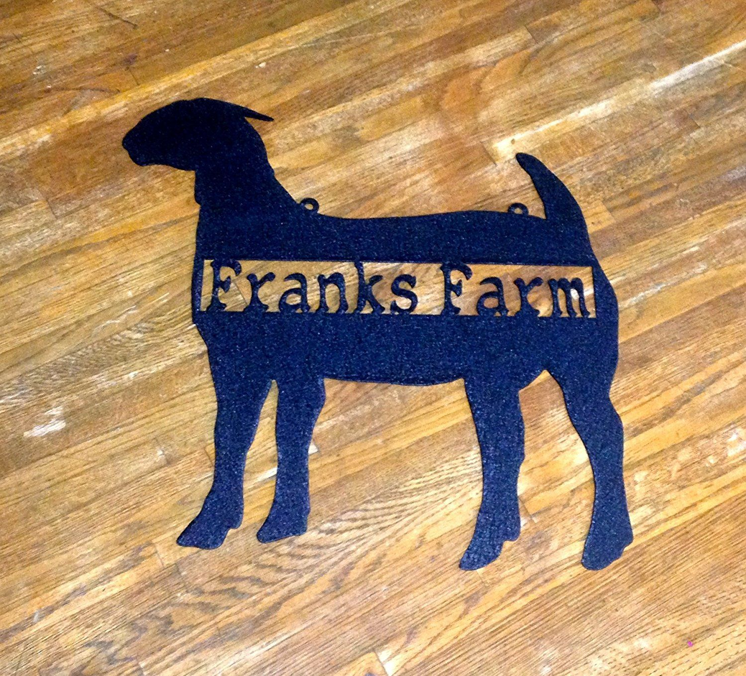Boar goat metal wall art with custom text m more info could