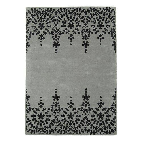 Ebern Designs Handgefertigter Teppich Louise in Grau   Wayfair.de