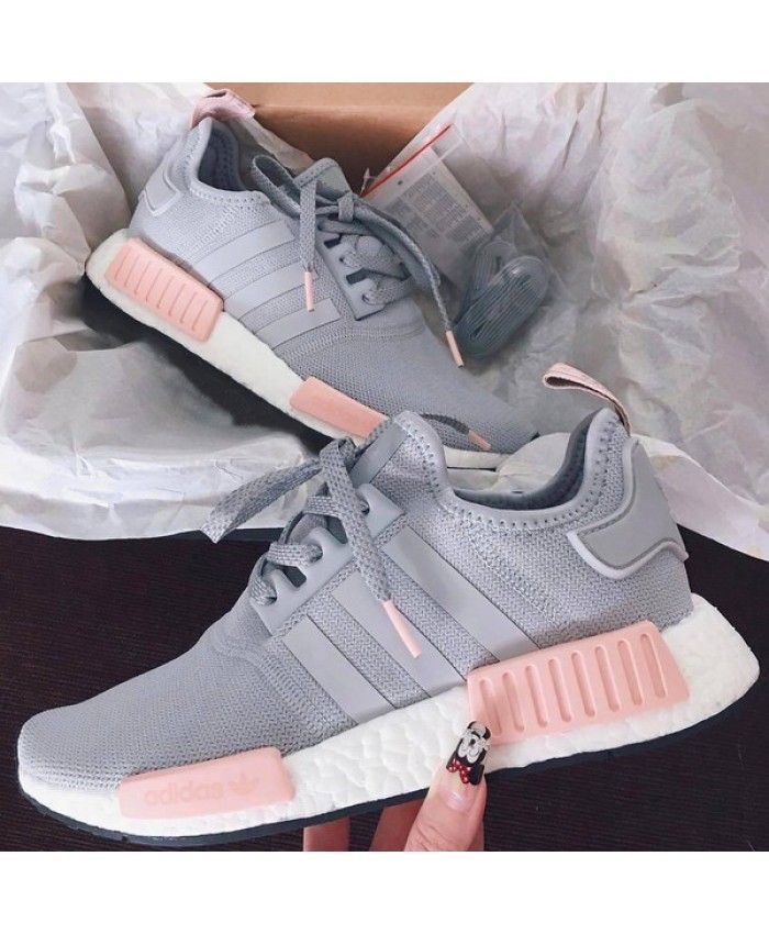2675d00a2 Womens Adidas NMD R1 Clear Onix Pink Grey Shoes Work is very fine ...