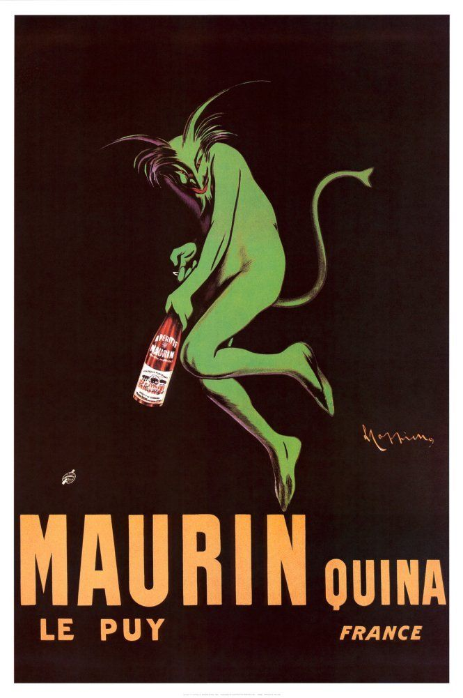 Amazon Com Maurin Quina 1920 Poster 24 X 36in Absinth Poster Posters Prints With Images Leonetto Cappiello Wine Poster Advertising Poster