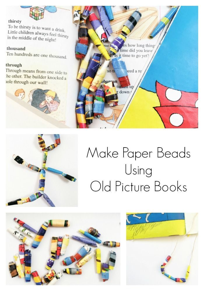 Make Paper Beads Using Old Picture Books Oh Creative Day