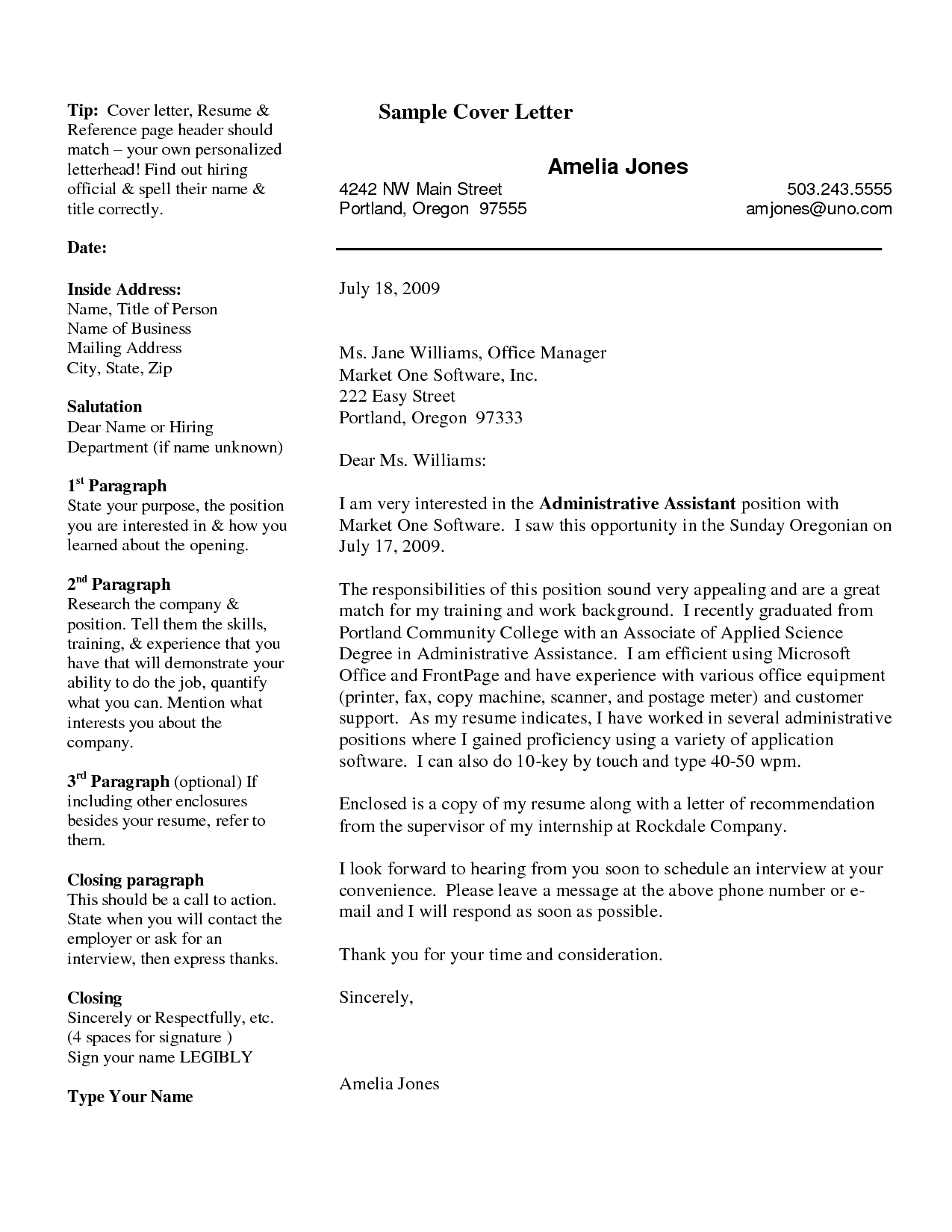 Cover Letter Resume Examples With References Writing How Sample