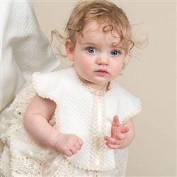 Newborn Girl Bib - Clementine Christening/Baptism Collection - Designer Gowns & Bibs