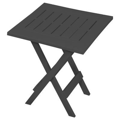 Gracious Living Grey Adirondack Folding Table 14209 6pdq Home Depot Canada Patio Side Table Patio Table Table