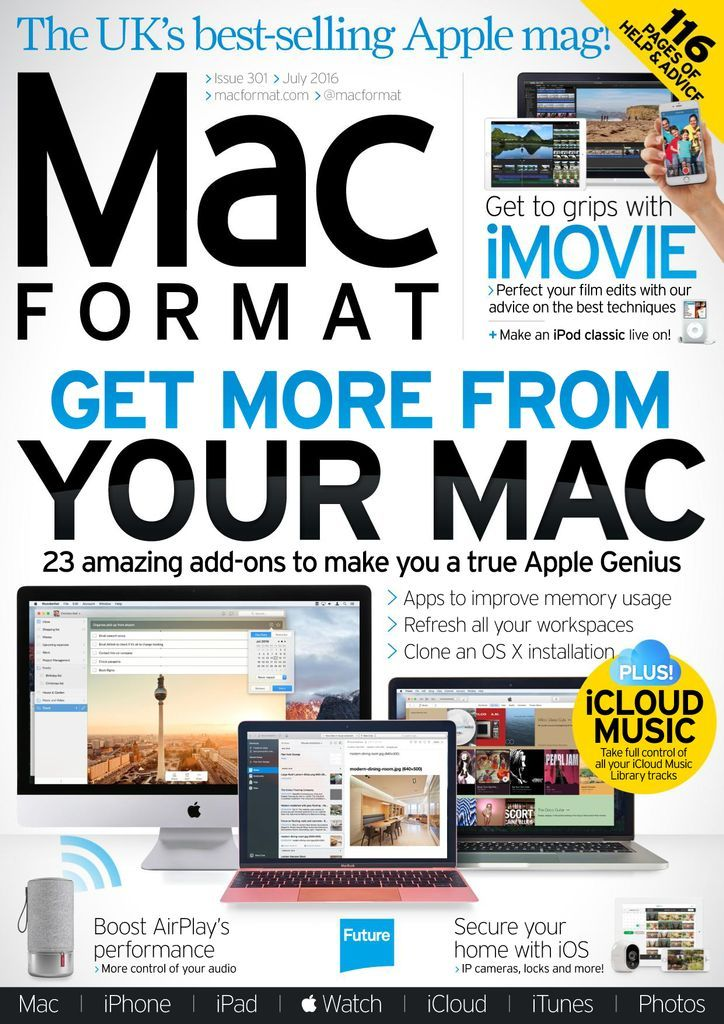 MacFormat is the UK's best selling magazine for the home Mac user. Each issue brings you all the exciting developments from the world of Apple, including reviews of new Macs, iPads and Apple's own apps like iPhoto, iMovie and GarageBand. We'll show you how to make the most of your Mac, OS X and all the creative things you can do with it. We also review all the latest 3rd party software and kit – so if you're looking for a new hard drive, monitor or printer that works with a Mac, you'll be well s
