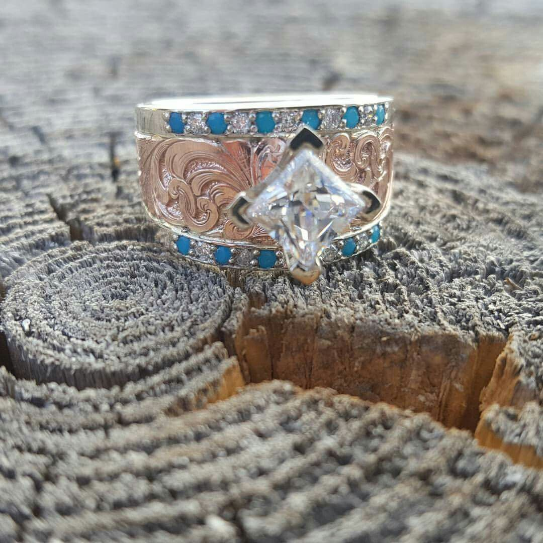 Jensen Silver Turquoise Wedding Engagement Ring Country Cowgirl Fashion Beaut Western Wedding Rings Unusual Wedding Rings Aquamarine Engagement Ring Vintage