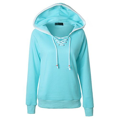 POOYA Womens Long Sleeve Fleece Pullover Lightweight Hoodie Zip-Up Sweatshirts Outwear Plus Size S-5XL