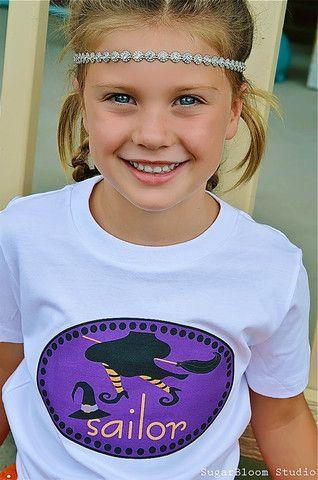 Halloween Witch's Broom Personalized Kids Shirt for Girls #kidshalloweenshirts #witch #FMT www.funkymonkeythreads.com