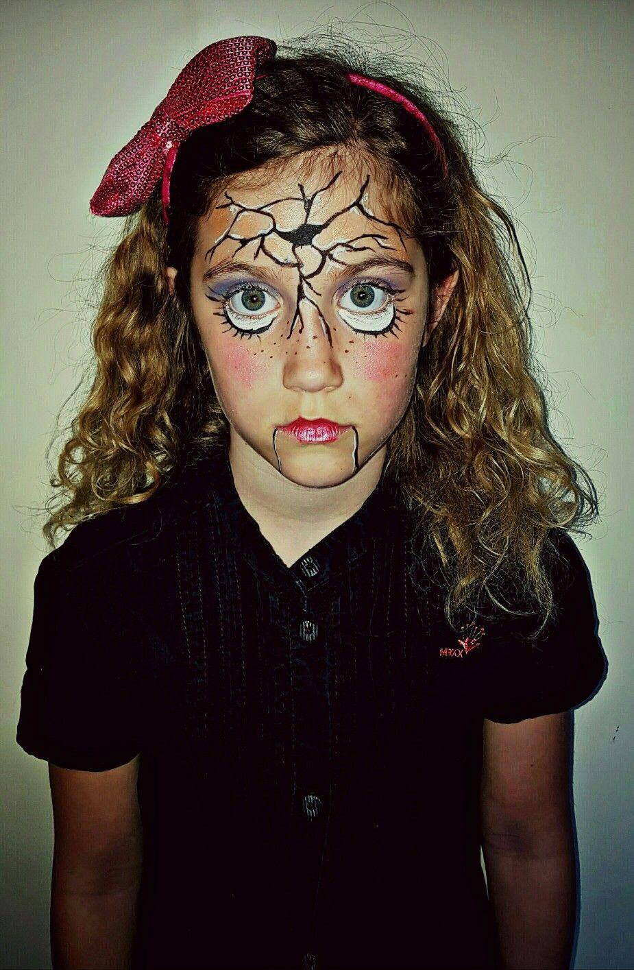 Broken doll facepaint