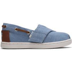 Photo of Toms Blue Denim Bimini Loafers para crianças – tamanho 26 Toms