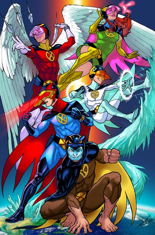 X Men Battle Of The Planet Amalgam Gatchaman Battle Of The Planets 80s Cartoons