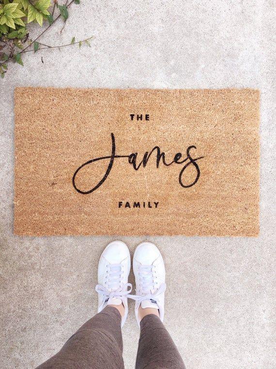 Custom Doormat- personalized doormat, Last Name Doormat, Welcome Mat, Name Doormat, Custom Wedding Gift, Housewarming Gift -   - #cheapweddinggift #Custom #Doormat #Gift #Housewarming #Mat #Personalized #Wedding