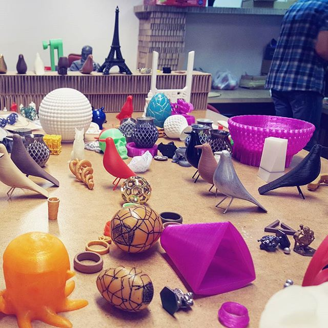 Something we liked from Instagram! We found a hacker cafe in Prague that only uses Bitcoins- the first of its kind in the world! I bought a coffee and cake with my first ever Bitcoin fractions. Then downstairs they have several 3D printing machines that created these cool objects that are pictured. Such an interesting place to visit! by gutsygirlliving check us out: http://bit.ly/1KyLetq