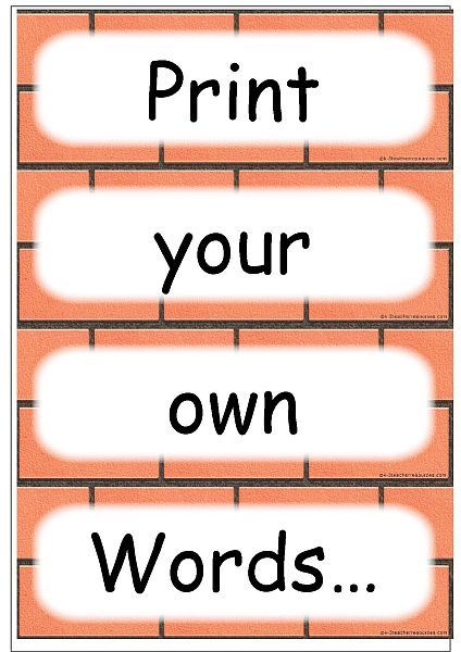 Editable Word  Spelling Cards  Template In Microsoft Word For