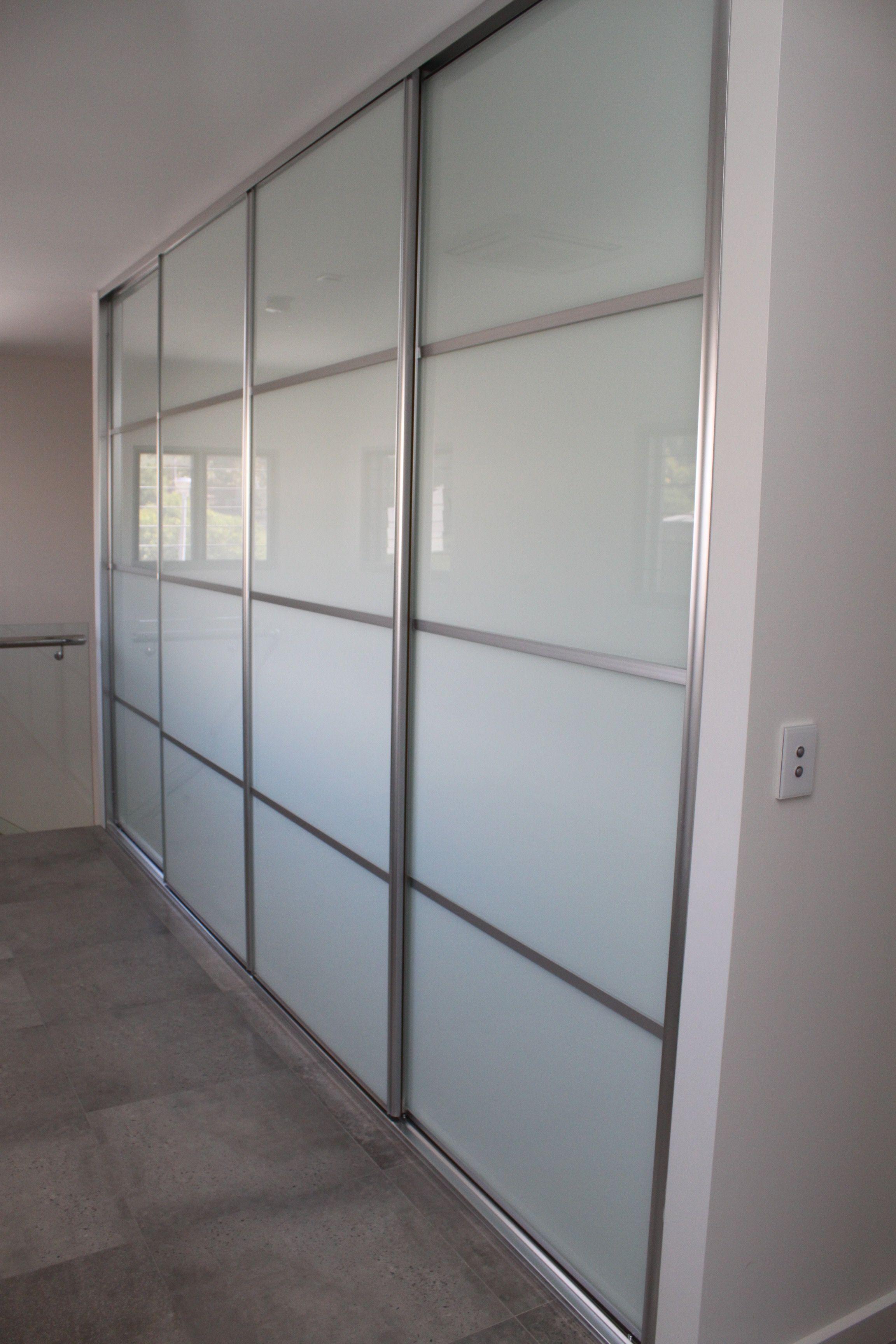 Linen Cupboard/Hallway Sliding DoorsWhite Gl 4 panel sliding ... on